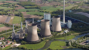 An aerial view of natural gas power plants run by RWE Power in Hamm, Germany.