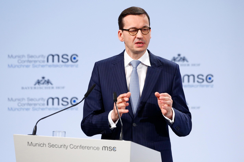 Thủ tướng Ba Lan, Mateusz Morawiecki, phát biểu tại Hội Nghị An Ninh Munich, ngày 17/02/2018.