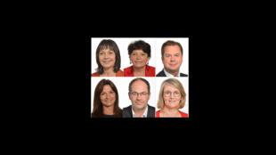 Sylvie Guillaume, Michèle Rivasi, Jérôme Rivière, Nathalie Colin-Oesterlé, Emmanuel Maurel, Marie-Pierre Vedrenne