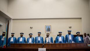 Les juges de la Cour constitutionnelle congolaise, janvier 2019.
