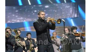 Ibrahim Maalouf aux Victoires de la Musique, Paris, février 2014.