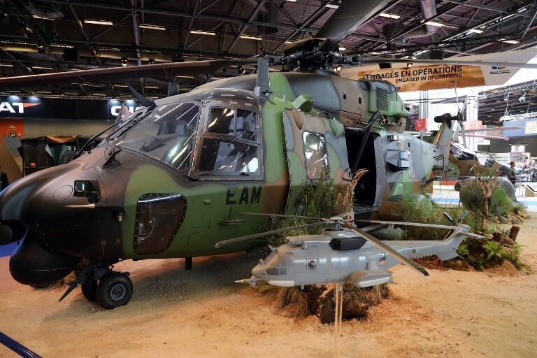 Вертолет NH90 на выставке вооружений Eurosatory, 13 июня 2016.
