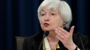 La presidenta de la Reserva Federal, Janet Yellen, en conferencia el 15 de junio de 2016 en Washington