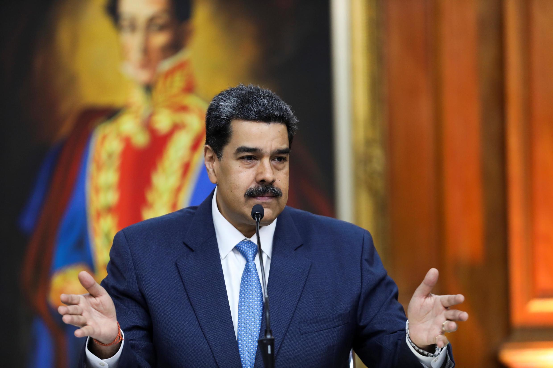 Le président du Venezuela, Nicolas Maduro, lors d'un discours à Caracas, le 14 février 2020.