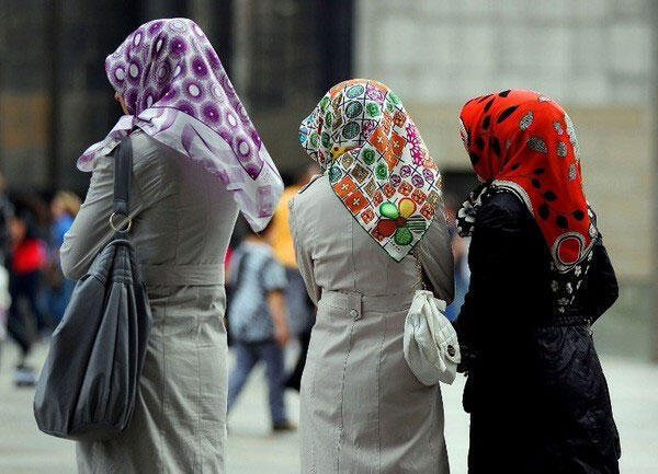 The Islamic headscarf is banned in schools and public buildings in France.
