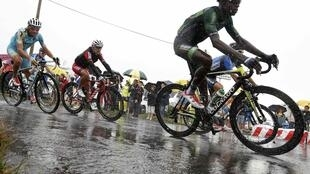 This year's Tour de France had to battle rain in July