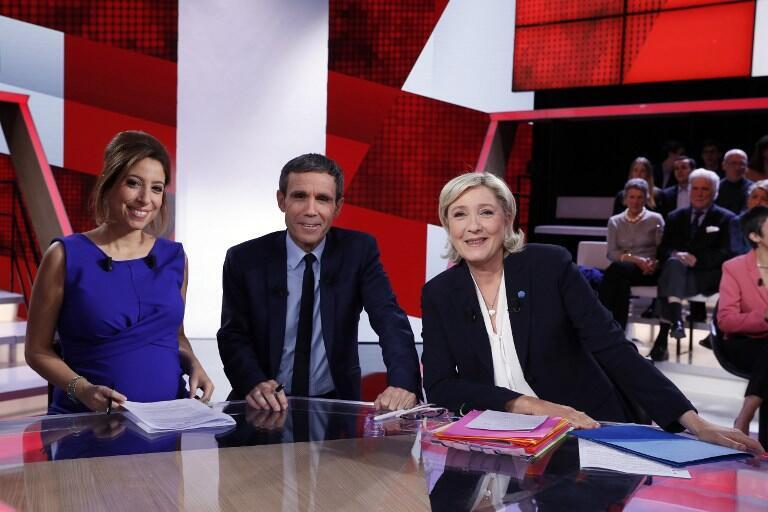 Marine Le Pen during a recent television interview