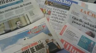 Primeiras páginas dos jornais franceses 30 de outubro de 2019
