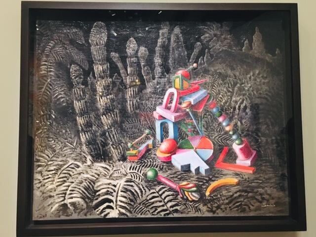 Tranh sơn dầu « Trong rừng ». Họa sĩ Alberto Savinio vẽ năm 1928.