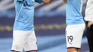 Sane (R) made his first league appearance of the season last week