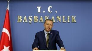 Thủ tướng Thổ Nhĩ Kỳ Tayyip Erdogan, thông báo cải tổ nội các trong cuộc họp báo, ngày 25/12/2013