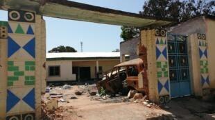 Un bâtiment détruit dans un quartier rounga de Birao, Centrafrique.