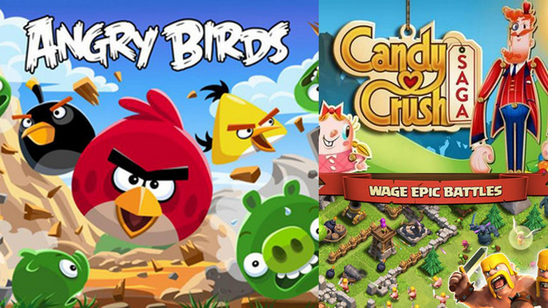 Games como Candy Crush Saga, Angry Birds e Clash of Clans são os principais exemplos da expansão dos mercados de jogos portáteis.