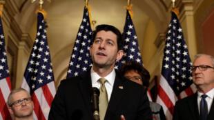 Le président de la Chambre des représentants, Paul Ryan, le 18 janvier 2018 à Washington.