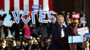 Hillary Clinton en Detroit, Michigan, el pasado 4 de noviembre de 2016.