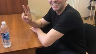 Калининградский журналист Игорь Рудников после освобождения, 17 июня 2019