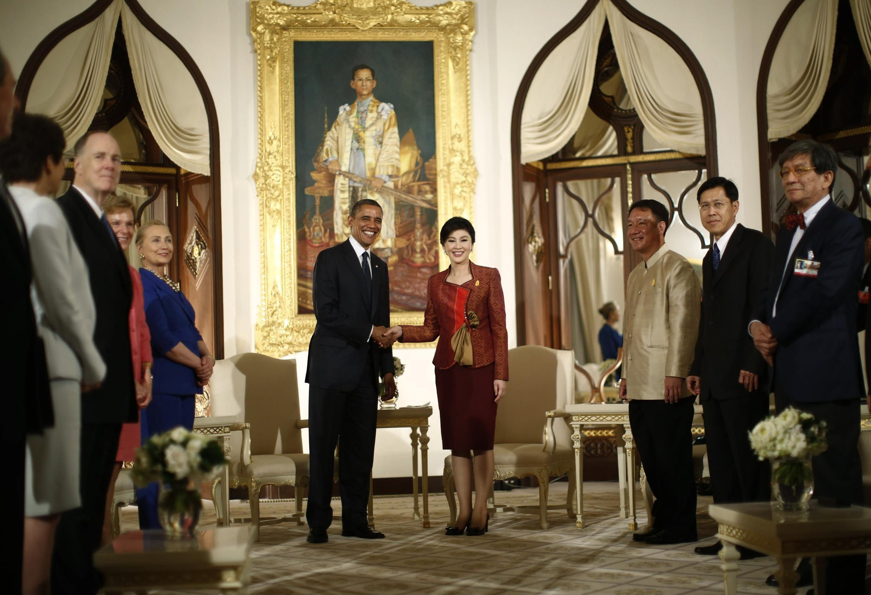 Thủ tướng Thái Lan tiếp tổng thống Mỹ. Ảnh ngày 18/11/2012