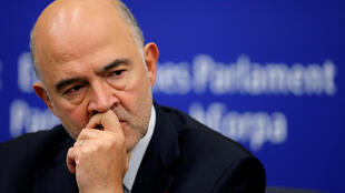 Moscovici, comissário europeu das relações econômicas, em coletiva de imprensa após a reunião da Comissão Europeia em Estrasburgo, nesta terça-feira (23).