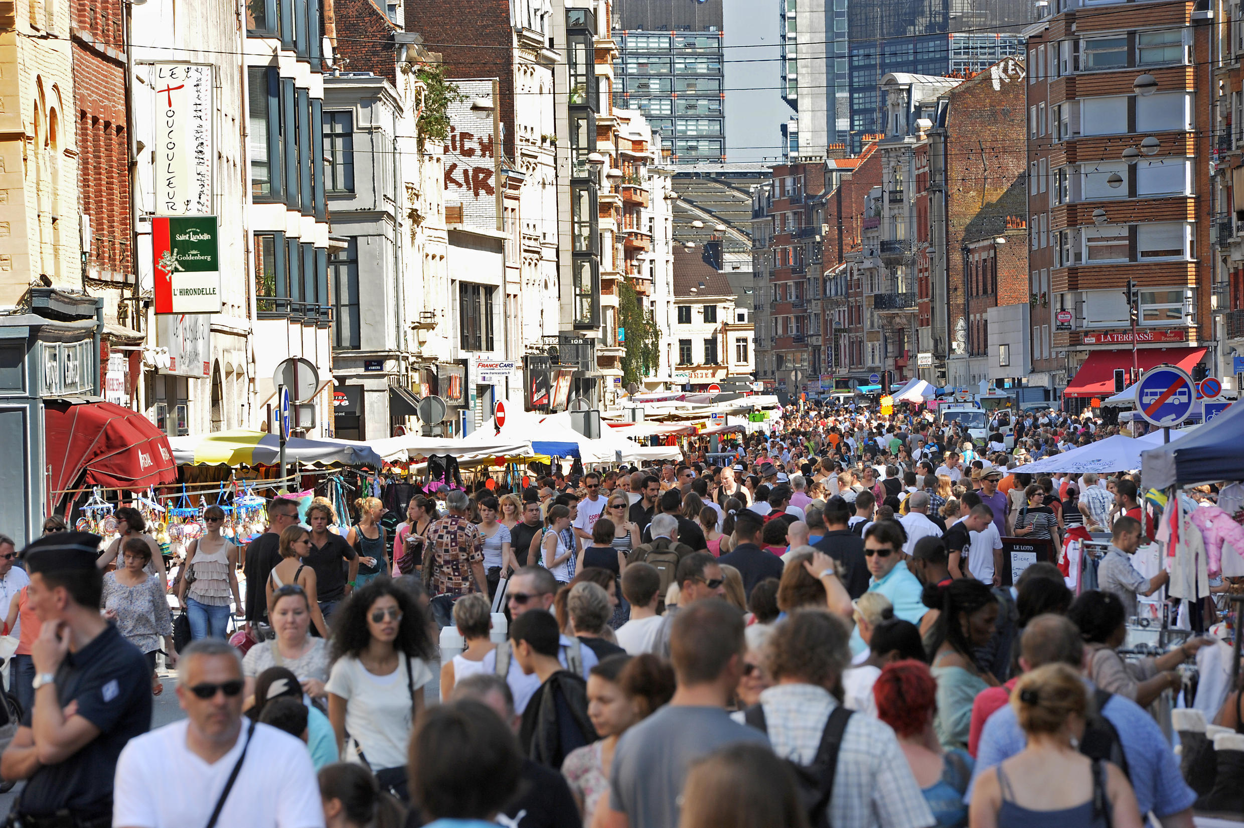 This file photo taken on September 03, 2011 shows visitors attending the annual Braderie de Lille (Lille Fleamarket) in Lille, northern France.