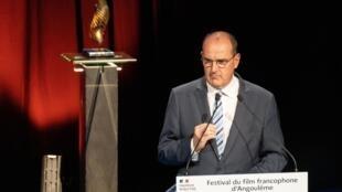 Le Premier ministre Jean Castex lors de la cérémonie d'ouverture du festival du film francophone d'Angoulème, le 28 août 2020.