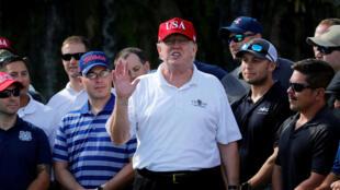 Le 28 décembre, Donald Trump a joué au golf et donné une interview improvisée au New York Times