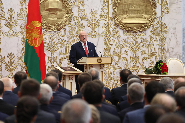 Alexander Lukashenko en Minsk el 23 de septiembre de 2020