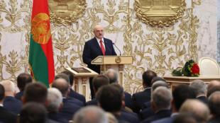 El presidente de Estados Unidos Alexander Lukashenko en Minsk el 23 de septiembre de 2020
