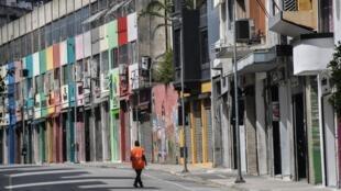 Des mesures de restriction ont été prises pour freiner l'épidémie de coronavirus. Sao Paulo (Brésil), le 24 mars 2020. (Image d'illustration)