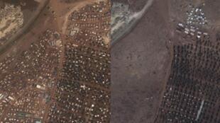 A cidade de Aleppo, capital econômica da Síria, antes e depois da destruição causada pela guerra civil.