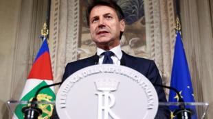 Ông Giuseppe Conte được bổ nhiệm làm thủ tướng Ý phát biểu với giới truyền thông, điện Quirinal, Roma, ngày 31/05/2018