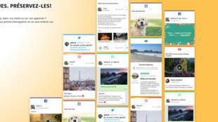 La page d'accueil de Kumbu, la boite à souvenirs pour les expatriés.