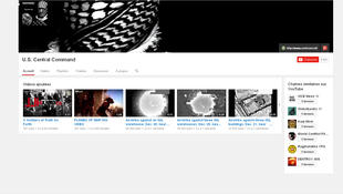La cuenta YouTube de CentCom durante el ataque.