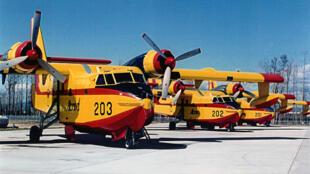Les Canadair CL-215 (notre photo) seront-ils épaulés par un Airbus?