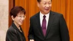 習近平和洪秀柱在北京會談 2016 11 1