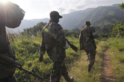 Rwandan soldiers in Democratic Republic of Congo.