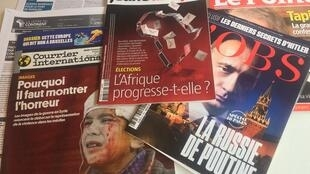 Capas de semanários sobre actualidade africana e mundial de 10/03/2018