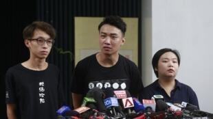 香港民间人权阵线召集人岑子杰等资料图片