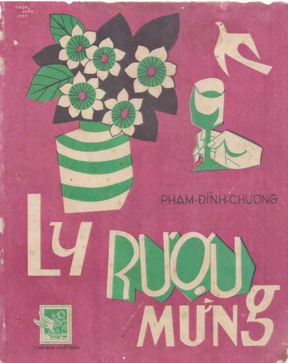 """Bìa nhạc """"Ly rượu mừng"""" của nhạc sĩ Phạm Đình Chương."""