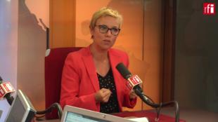 Clémentine Autain (FI) lors de l'Invité du Matin du 28 août 2018.