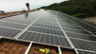 Montaje de paneles solares en los Estados Unidos
