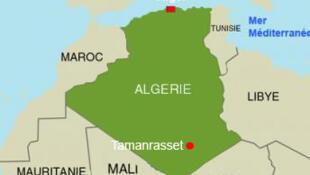Taswirar yankin Tamanrasset a kasar Algeria