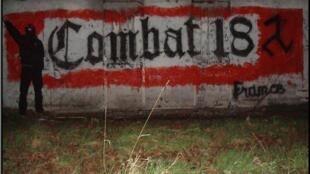 C18 graffit in Doubs, eastern France