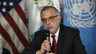 Iván Velásquez, titular de la CICIG, durante una conferencia de prensa en Ciudad de Guatemala, el pasado 25 de enero de 2017.