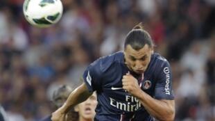 L'attaquant suédois du PSG, Zlatan Ibrahimovic.