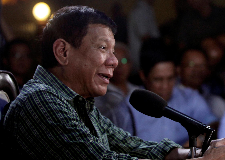 Tổng thống đắc cử Philippines Rodrigo Duterte trong cuộc họp báo tại Davao ngày 31/05/2016.