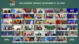Reunião de cúpula virtual do G20 organizada pela Arábia Saudita.
