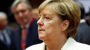 Thủ tướng Đức Angela Merkel tại thượng đỉnh Liên Hiệp Châu Âu, Bruxelles, ngày 20/10/2017.