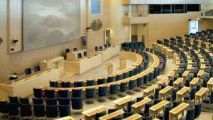 L'hémicycle du Parlement suédois.