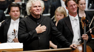 Sir Simon Rattle, who turns 66 next week, is a prominent figure in Germany, where he led the Berlin Philharmonic from September 2002 to June 2018