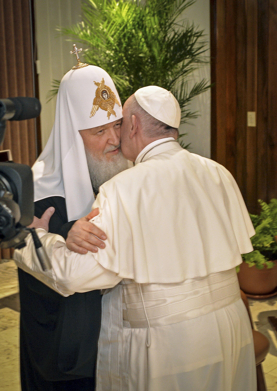 Первая в истории встреча Папы Римского и главы РПЦ 12 февраля 2016.